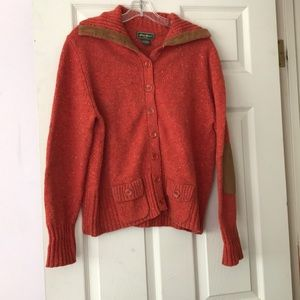 Eddie Bauer Vintage Chunky Knit Patch Sweater